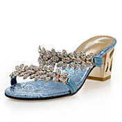 Fashion Leatherette Chunky Heel Sandals With Rhinestone Party/Evening Shoes (More Colors)