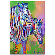 Printed Art Animal Zebra by Richard Wallich