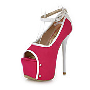 PU Stiletto Heel Peep Toe Sandals  With Ankle-Strap Party / Evening Shoes(More Colors)