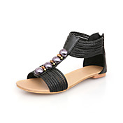 Stylish Leatherette Flat Heel Sandals Party / Evening Shoes (More Colors)