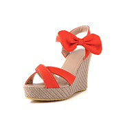 Fabulous Canvas Wedge Heel Sandals/Wedges With Bowknot Party/Evening Shoes (More Colors)
