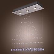 Comtemporary Crystal Drops Pendant Lights with 3 Lights