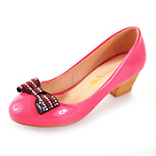 Patent Leather Chunky Heel Round Toe With Bowknot Party / Evening Shoes (More Colors)