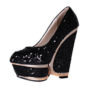 Amazing Paillette Wedges Heel With Platform Party/Evening Shoes