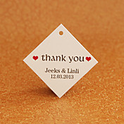 Personalized Rhombus Favor Tag - Thank You (sæt af 30)
