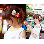 Women's Sweet Double Color Flower Hair Clip