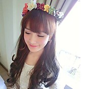 Women's Multi-color Flower Wreath Headband