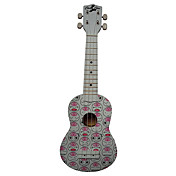 (Mood) Laminated Basswood Soprano Ukulele with Bag/String/Picks(White)