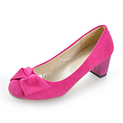 Suede Chunky Heel Round Toe With Bowknot Party / Evening Shoes (More Colors)