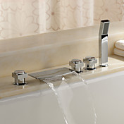 Sprinkle® by Lightinthebox - Brass Waterfall Tub Faucet with Hand Shower (Chrome Finish)