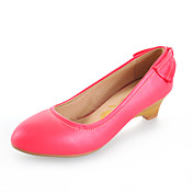 Leatherette Wedge Heel Wedges With Bowknot Casual / Party / Evening Shoes (More Colors)
