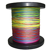 500m 4 Carriers PE Braided Fishing Line (Rainbow)