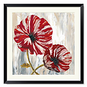 Framed Art Print Floral Red Poppies I by Willow Way Studios, Inc.