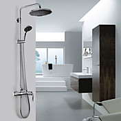 Contemporary A Grade ABS Chrome Finish Shower Faucet (Rainfall+Handheld)