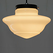 60W Elegant Pendant Light with Glass Shade in Ice Cream Style