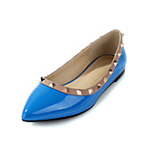 Stylish Leatherette Flat Heel Flats With Rivet Casual Shoes(More Colors)