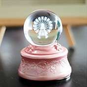Ferris Wheel Crystal Ball Music Box