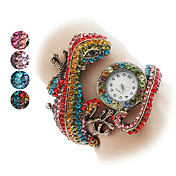 Women's Lizard Design Metal Analog Quartz Bracelet Watch (Assorted Colors)