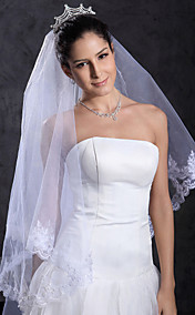 Beautiful 1 Layer Chapel Wedding Veil
