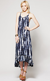 TS Tie Dye Ruffled Hem Maxi Dress