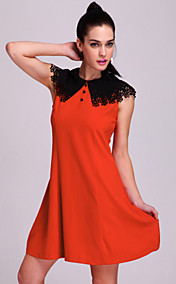 TS Two-tone Collar Dress (More Colors)