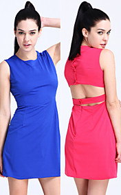 TS Simplicity Open-back Flair Dress (More Colors)