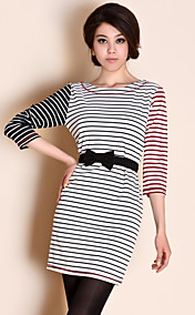 ts blandet stripe slim fit dress