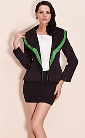 TS Contrast Color Double Layer Collar Basic Blazer