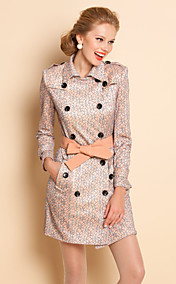 TS Lace Belted Double Breast Trench Coat