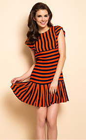 TS Stripes Pleats Dress