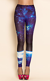 TS Stars And Waves Print Leggings