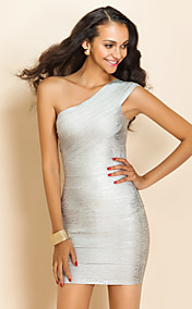 TS One-Shoulder-figurbetontes Kleid