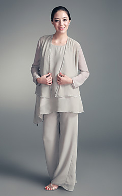 Chiffon Jacket &amp; Chiffon Pant Set