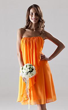 VIVIENNE - Vestido de Casamento e Madrinha em Chifon e Cetim Elástico
