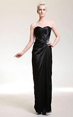 Charmeuse Sheath/ Column Sweetheart Floor-length Evening Dress inspired by Halle Berry