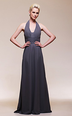 Chiffon Sheath/Column V-neck Floor-length Evening Dress inspired by Kate Middleton