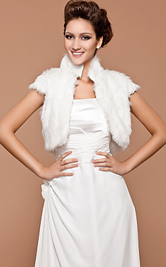 Short Sleeve Feather/ Fur Wedding/ Party Jacket/ Wrap