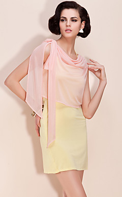 TS Shimmering Cowl Neck Bow Blouse Shirt (More Colors)