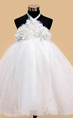 Lovely Halter Neckline Ball Gown Tulle Flower Girl Dress