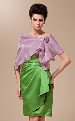 Rayon With Flower Pin Special Occasion Shawl / Wrap