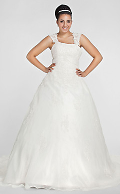 DOROTHY - Abito da Sposa in Organza (Taglia Forte)