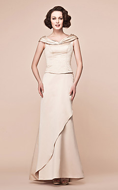 Trumpet/Mermaid Off-the-shoulder Floor-length Satin Mother of the Bride Dress