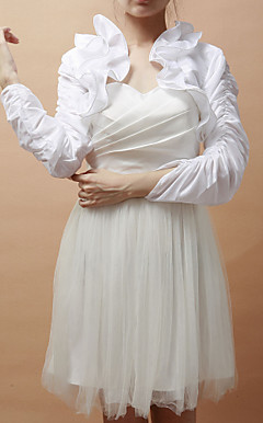 3/4-Length Sleeve Taffeta Special Occasion Jacket/Wedding Wrap(More Colors)