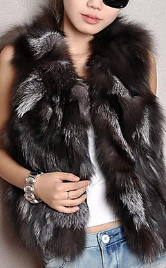 Elegant ermer Fox Fur Evening / Karriere Vest