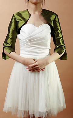 Elegante Half-Sleeve Taft Wedding / Evening Jacke / Wrap (mehr Farben)