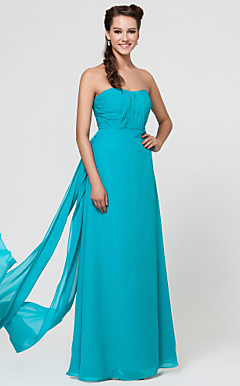 Sheath/Column Sweetheart Floor-length Chiffon Bridesmaid Dress With Sash/Ribbon