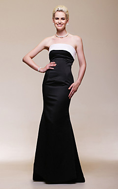 Satin Trumpet/ Mermaid Strapless Floor-length Evening Dress inspired by Reese Witherspoon at the 83rd Oscar