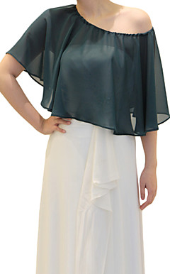 Chiffon Evening/Wedding Hood/Poncho (More Colors)