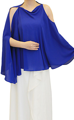 Beautiful Chiffon Evening/Wedding Hood/Poncho (More Colors)