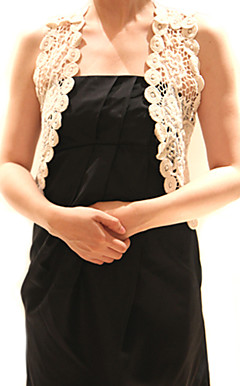 Cotton With Appliques Special Occasion / Causal Vest In Ivory